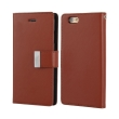 mercury goospery rich diary flip case apple iphone 7 plus brown black photo