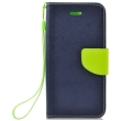 fancy book case for samsung galaxy j7 2017 navy lime photo