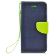 fancy book flip case for apple iphone x navy lime photo