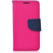 fancy book flip case for apple iphone x pink navy photo