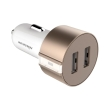 nillkin vigor universal car charger 2xusb 24a 1a gold photo