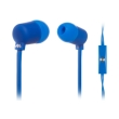 meliconi 497445 mysound speak fluo in ear headphones with microphone blue photo