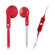 meliconi 497451 mysound speak flat in ear headphones with microphone bicolor red white photo