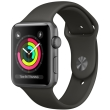 apple watch 3 mr362 42mm space grey aluminum case with grey sport band photo