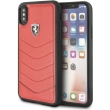 ferrari heritage leather hard case for iphone x red photo