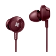 philips she4305rd 00 bass in ear headphones with mic red photo