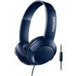 philips shl3075bl 00 bass headphones with mic blue photo