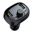 baseus transmiter fm t type bluetooth mp3 car charger tarnish photo