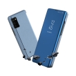 smart clear view flip case for huawei p40 lite e blue photo