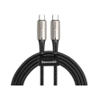 baseus water drop shaped lamp type c pd20 60w flash charge data cable 20v 3a 2m black photo