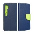 fancy book flip case for xiaomi redmi note 10 navy lime photo