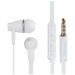 hama 184008 joy headphones in ear microphone flat ribbon cable white photo