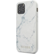 guess iphone 12 iphone 12 pro 61 guhcp12mpcumawh white hard back cover case marble photo