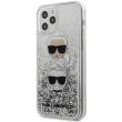 karl lagerfeld iphone 12 mini 54 klhcp12skcglsl silver hard case liquid glitter karlchoupette photo