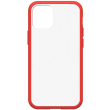 otterbox react back cover case for iphone 12 mini red transparent photo