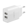 logilink pa0185 usb wall charger 2x usb port 105w white photo