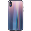 aurora glass back cover case for samsung a12 brown black photo
