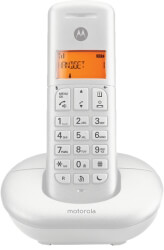 motorola e201 cordless phone with call block do not disturb white photo