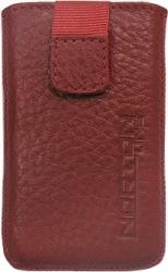 leather pouche aniline case red gia sony ericsson w995 photo