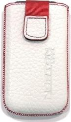 leather pouche aniline case white red sew gia apple iphone 4 photo
