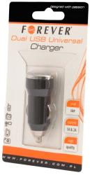 forever universal car charger usb 2in1 1a 2a photo