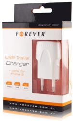 forever travel adapter 1a white with iphone 5 6 7 8 usb cable photo