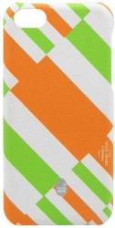 thiki hardshell stoneage apple iphone 5c light desire white orange photo