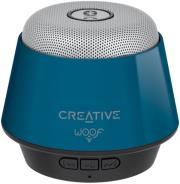 creative woof portable micro wireless speaker blue photo