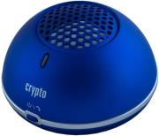 crypto bluetooth speaker magnet power 10 metallic blue photo