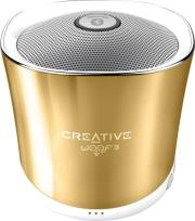 creative woof3 micro sized bluetooth mp3 flac speaker autumn gold photo