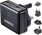 duracell worldwide charger dual usb 24a 1a black universal photo