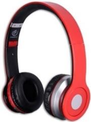 rebeltec crystal bluetooth headset red photo