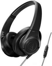 audio technica ath ax3is sonicfuel over ear headphones for smartphones black photo
