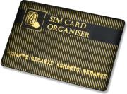4smarts sim card organiser with adapters black gold photo