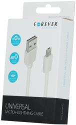 forever micro usb lightning cable white photo