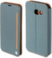 4smarts flip case two tone for samsung galaxy a3 2017 blue grey orange photo