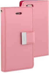 MERCURY GOOSPERY RICH DIARY FLIP CASE APPLE IPHONE 7 PINK / HOT PINK