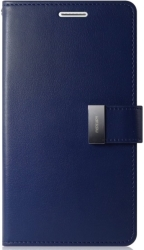MERCURY GOOSPERY RICH DIARY FLIP CASE SAMSUNG GALAXY S8 PLUS G955 NAVY BLUE / LIME