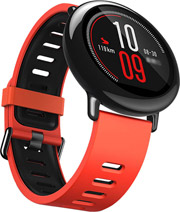 xiaomi huami amazfit smartwatch red black photo