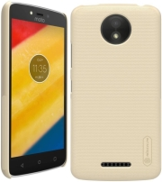 NILLKIN SUPER FROSTED SHIELD BACK COVER CASE FOR MOTO C PLUS GOLD