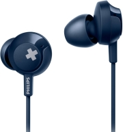philips she4305bl 00 bass in ear headphones with mic blue photo