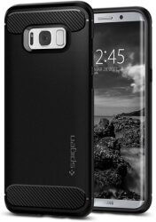 spigen rugged armor back cover case for samsung galaxy s8 plus black photo