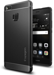 spigen rugged armor back cover case for huawei p9 lite black photo