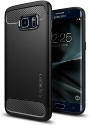 spigen rugged armor back cover case for samsung galaxy s7 edge black photo