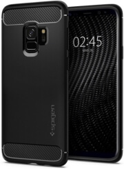 spigen rugged armor back cover case for samsung galaxy s9 matte black photo