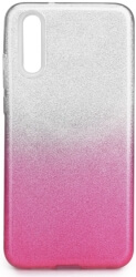 forcell shining back case for huawei p20 clear pink photo