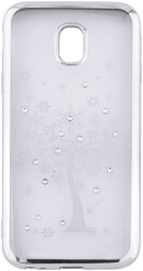 beeyo diamond tree back cover case for apple iphone x silver photo