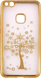 beeyo diamond tree back cover case for samsung a8 2018 a530 gold photo