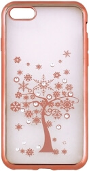 beeyo diamond tree back cover case for samsung s7 g930 rose gold photo