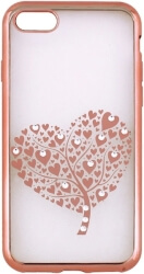 beeyo hearts tree back cover case for samsung s9 g960 rose gold photo